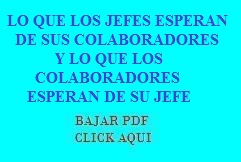 1.3.2 LO QUE LOS JEFES ESPERAN DE SUS COLABORADORES Y LO QUE LOS COLABORADORES ESPERAN DE SU JEFE